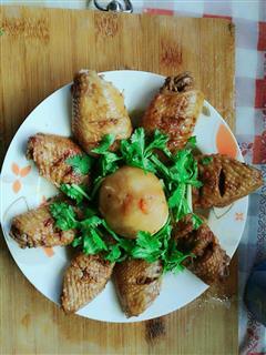 红烧鸡翅土豆泥