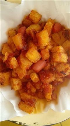 番茄沙司馒头丁