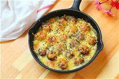 土豆泥焗蘑菇