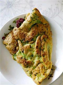 菠菜鸡蛋饼