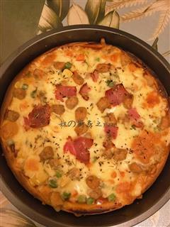 什锦牛肉披萨