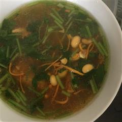 虫草花大豆排骨汤