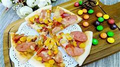 玉米火腿披萨