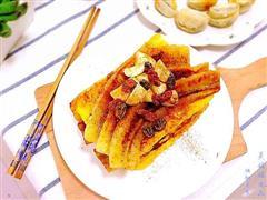 蔓越莓肉桂香蕉配煎蛋面包