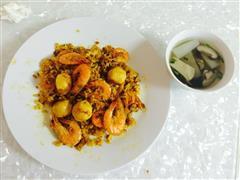 泰式咖喱大虾蛋炒饭