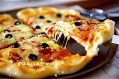 意式萨拉米芝心披萨