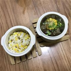 白领晚饭-萝卜玉米排骨汤