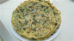 香菇菠菜鸡蛋饼