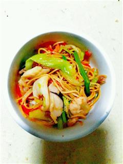 海鲜炒面线