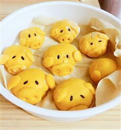 南瓜版黄金猪猪馒头