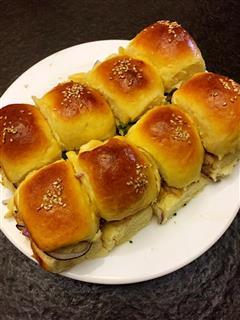 柱候鸡肉联排mini汉堡