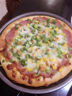 火腿香蕉披萨