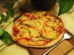 培根香肠土豆披萨
