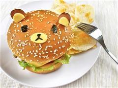 轻松熊日式汉堡