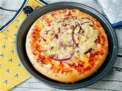 鸡排培根披萨