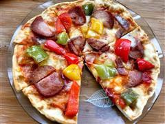 平底锅做的至尊披萨