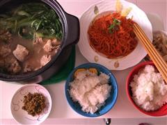 小白菜排骨汤-吃吃肉,喝喝汤