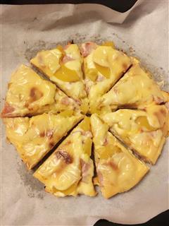 黄桃培根披萨