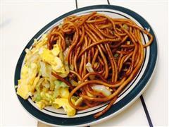 简易蔬菜鸡蛋炒面