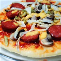 超简单美味微波炉披萨