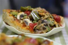 腊肉蘑菇披萨