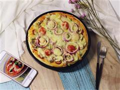 松软蘑菇披萨