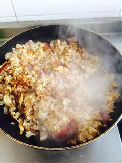 洋葱虾皮蛋炒饭