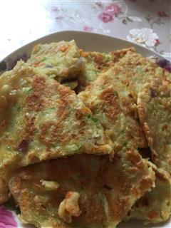 黄瓜胡萝卜鸡蛋饼
