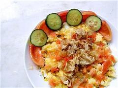 番茄土豆泥盖鸡蛋