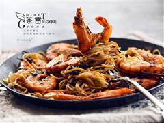 茶香鲜虾炒面