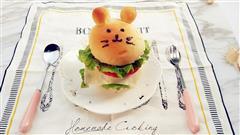 萌萌哒卡通动物汉堡包