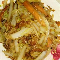 白菜炒面筋