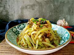 风味豆豉炒莴笋