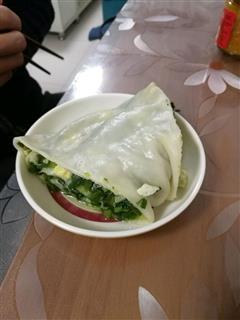 韭菜鸡蛋卷/素肉龙
