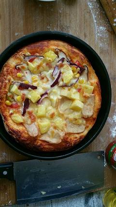 夏威夷拼田园风光披萨