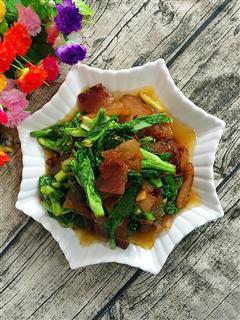菜苔炒腊肉