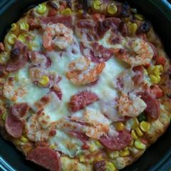 火腿大虾披萨