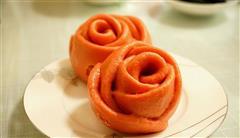 女生最爱的玫瑰花馒头