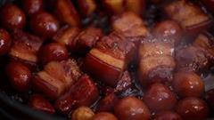 加了鹌鹑蛋后,这盘红烧肉,美味的逆天啦-鹌鹑蛋烧肉