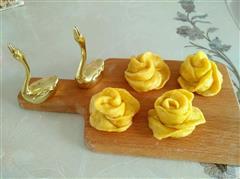 黄玫瑰花南瓜馒头