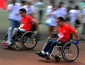 跑步(推着轮椅)