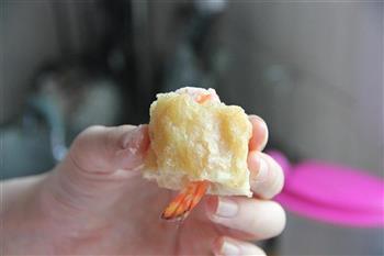 菠萝油条虾的做法步骤9