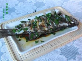 葱油清蒸鲈鱼的做法图解10