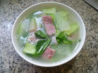 咸肉青菜冬瓜汤的做法图解11