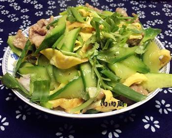青瓜肉片炒蛋的做法步骤11