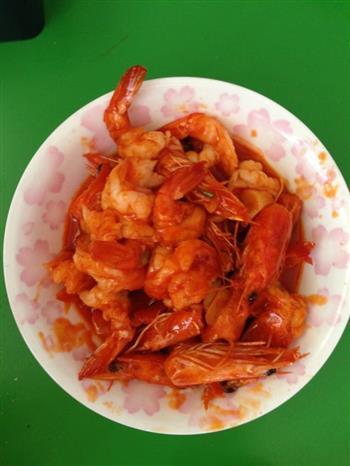 蕃茄虾的做法图解1