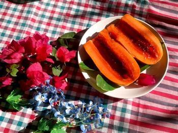 蜜汁木瓜水晶蓝莓冻   美颜瘦身佳品的做法图解12