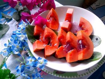 蜜汁木瓜水晶蓝莓冻   美颜瘦身佳品的做法图解18