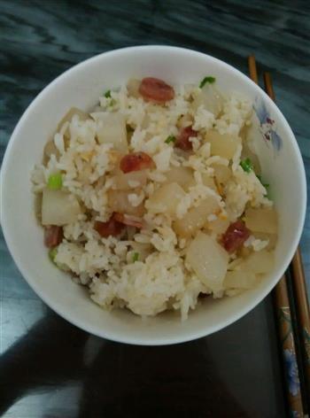 潮菜-炒菜头饭的做法图解3