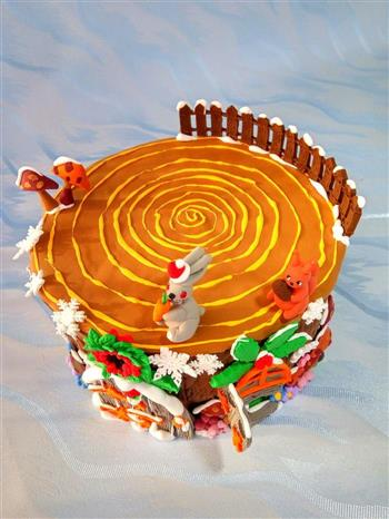 圣诞节树屋翻糖无需申请自动送的做法图解10